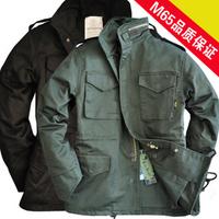 1688cs alpha brass zipper classic m65 outdoor jacket