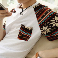 Go . short-sleeve t T-shirt male fashion raglan sleeve les
