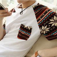 Go . short-sleeve t T-shirt male fashion raglan sleeve les