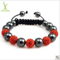 SBB185 Shambala Charm Disco Ball Beads White Bracelet New T-Paris Shambhala Rhinestone Crystal Fashion Jewelry Shamballa