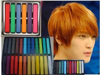 6 12 24 36 hair color chalk crayon hair sticks pastels, stick
