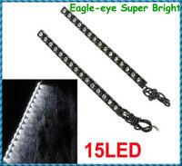2Pcs 15LED Eagle-eye Super Bright White Waterproof Flexible Car Daytime Running Light Free Shipping Dropshipping Wholesale