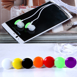 3.5mm chocolate in ear earphones computer mobile phone earphones heatshrinked color c303 Free shipping by CPAM(China (Mainland))