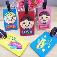 Free Shipping Limited edition South Korea hit big head doll aircraft/aircraft baggage tag bus card set of baggage