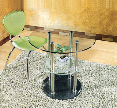 Round table, leisure table, with stone base contracted toughened glass table, reception desk manufacturers selling exports(China (Mainland))