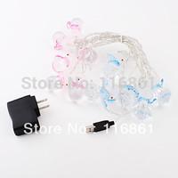 4PCS Free shipping Multi-colored Snowman LED Decoration Lights String(12 LED)