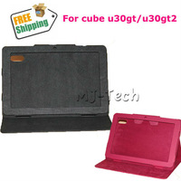 Free Shipping Original Leather Stand Case for 10 inch tablet pc cube u30gt2 RK3188 Quad Core tablet pc