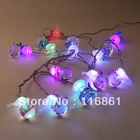 Multi-Colored Snowman LED Decoration Lights String(12 LED)