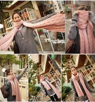 2014 New the autumn winter fashionable joker boys and girls long twist yarn scarf wholesale free shipping421