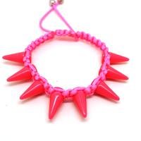 Free shipping 1 lot/10pcs Punk style jewelry handmade woven bracelet bangles famous brand tension beaded spike bracelet