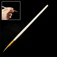 "10 Pcs Wooden Shaft Small Size Chinese Calligraphy Writing Brush 5.3"" Free shipping"