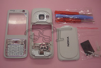 Plastic full housing cover +keyboard +tools for Nokia N73 White+Hongkong post