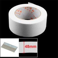 2 Pcs Non-adhesive 4.8cm Width White Repair Dacron Sail Tape Roller Free shipping