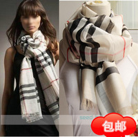 Spring and summer classic faux silk wool shawl super-soft 2.1 meters ultra long classic plaid lentils thermal scarf cape