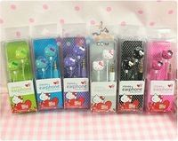 Hello kitty earphone headphone for mp3 mp4 cheap earphone 100pcs/lot Free Shipping
