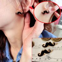 Free sipping 24pcs/lot vintage sexy Avanti beard stud earrings