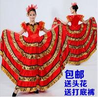 Spanish bull dance expansion skirt female dance skirt clothing national clothes