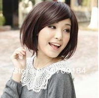 Free shipping 3 Color Stylish Fashionable BOB style full lace wig for women+drop shipping