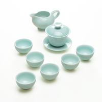 Longquan celadon cup tureen set ceramic tea set celadon rich tureen piece set