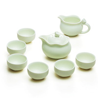 Quality kung fu tea set cup set ceramic tea set lotus seed 8