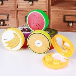 FREE SHIPPING! 5614 Korean new home lovely color contact lens case companion box care storage box(China (Mainland))