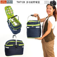 Good quality Travel Cosmetic Picnic Lunch Food Bag Insulated outdoor Ice Cooler bag free shipping 1pcs