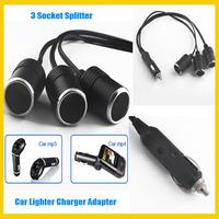 1 to 3 Way Socket Splitter 12V 24V Power Car Cigarette Lighter Charger Adapter