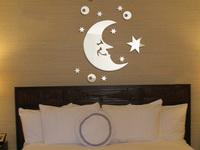 Romantic wall stickers ofhead The moon the stars  mirror wall stickers tv wall sofa wall P028