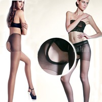 HOT women's meat stockings temptation sexy flesh-colored ultra-thin 10pcs/lot transparent open file pantyhose