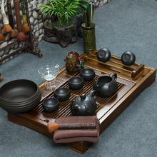 Yixing tea set kung fu tea solid wood tea tray set