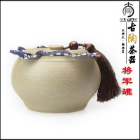 Ancient ceramic coarse pottery PU er tea cans tea storage sealed cans