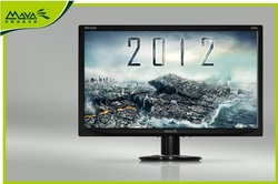 Maya 2012 edition 20 led computer lcd monitor 19 22 ultra-thin(China (Mainland))