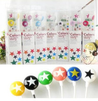 Fedex UPS DHL Free Shipping 200pcs/lot HOT Sell 3.5mm Chocolate Star EHP Candy Stereo Earphone Headphone For MP3 MP4