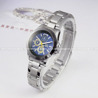 Elegant Women Ladies Quartz Blue Dial Stainless Wristwatch Luxury Silver Mini