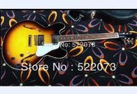 best china guitar Vintage Sunburst es335 jazz Hollow electric guitar Free hardcase OEM Musical