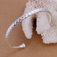 B157 Hot Sale Wholesale 925 silver bangle bracelet  925 silver fashion jewelry  fashion Bangle