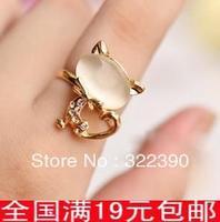 - russy cat eye rhinestone ring finger ring accessories