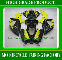 Free shipping yellow/black fairings kit for SUZUKI K8 2008 2009 GSX R750 R600 08 09 GSXR600/750 ABS motobike parts