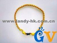 Latest Softball Stitching Titanium Necklace, Triple Braided Rope, 50pcs/lot, Free Shipping