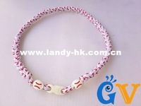 Baseball Stitching Necklace, Tornado Titanium White Cord with Red Stitching,  50pcs/lot, Free Shipping