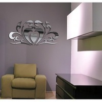 Home decoration crystal three-dimensional wall stickers decoration supplies three-dimensional crystal mirror wall stickers P083