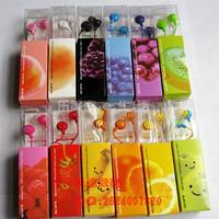 Boxed fruit in bulk smiley earphones ehp-din10 computer earphones personalized earphones