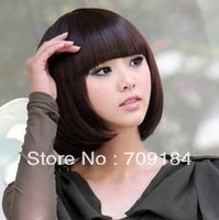 Free shipping 3 Color Stylish Fashionable BOB style glueless full lace wigs +drop shipping