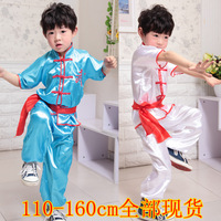 Child costume male child martial arts clothing set performance wear short-sleeve leotard