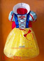 Performance wear snow white princess dress child Christmas performance wear clothing