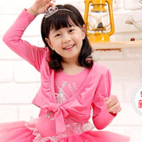 1292 child cape long-sleeve ballet skirt cape female child costume leotard coat