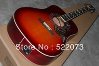 Very beautiful new cherry electric guitar Acoustic guitar with  free shipping from china