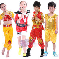 Infant child costume dance set performance wear ofdynamism stage clothing