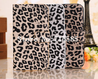 10pcs Leopard Wallet Stand Leather Case Cover for Samsung Galaxy S4 i9500+Free Shipping