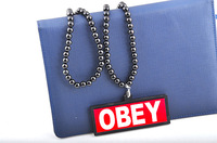 Obey acrylic necklace trend hip-hop hiphop pendant hiphop street fashion lanyards